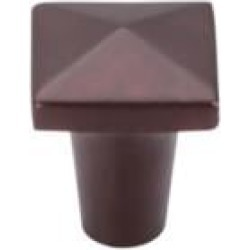 "Top Knobs M1513 Aspen 7/8"" Cast Bronze Square Shaped Cabinet Knob in Mahogany Bronze"