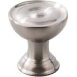 """Top Knobs SS42 Stainless II 1"""" Steel Cone Shaped Cabinet Knob in Brushed Stainless Steel"""