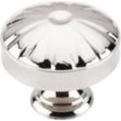 "Top Knobs M1611 Dakota 1 1/4"" Zinc Alloy Mushroom Shaped Hudson Cabinet Knob in Polished Nickel"