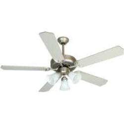"Craftmade K10422 Pro Builder 205 5 Blades 52"" Indoor Ceiling Fan with Incandescent Light Kit in Brushed Nickel"