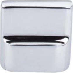 "Top Knobs M2051 Aspen II 1 3/8"" Cast Bronze Rectangular Shaped Flat Sided Cabinet Knob in Polished Chrome"
