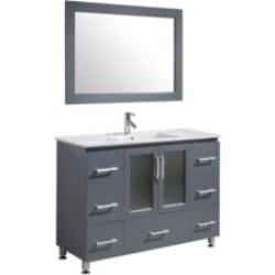"Design Element B48-DS-G Stanton 48"" Freestanding Single Sink Bathroom Vanity Set in Country Gray"