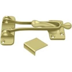 """Deltana DG525 5 1/4"""" Solid Brass Door Guard Latch"""