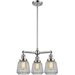 """Innovations Lighting 207-G142 Chatham 24"""" Three Light Single Tier Clear Glass Chandelier with LED or Incandescent Bulb Option"""