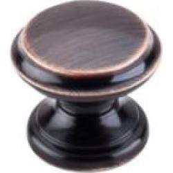 """Top Knobs M1591 Dakota 1 3/8"""" Zinc Alloy Mushroom Shaped Flat Top Cabinet Knob in Tuscan Bronze"""