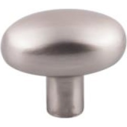 "Top Knobs M2071 Aspen II 1 5/8"" Cast Bronze Oval Shaped Small Potato Cabinet Knob in Brushed Satin Nickel"
