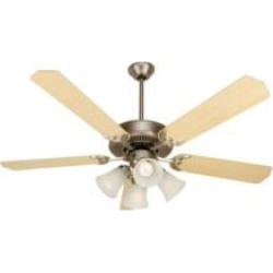 """Craftmade K10631 Pro Builder 203 5 Blades 52"""" Indoor Ceiling Fan with Fluorescent Light Kit in Maple"""