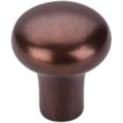 "Top Knobs M1553 Aspen 1 1/8"" Cast Bronze Round Shaped Cabinet Knob in Mahogany Bronze"