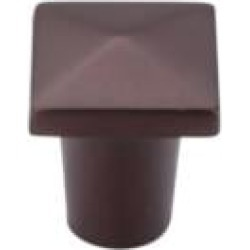 "Top Knobs M1508 Aspen 3/4"" Cast Bronze Square Shaped Cabinet Knob in Mahogany Bronze"