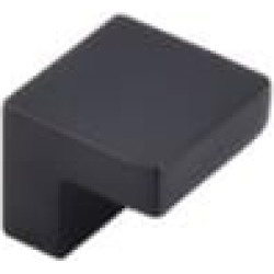 """Top Knobs M1165 Nouveau III 1"""" Zinc Alloy Square Shaped Cabinet Knob in Flat Black"""