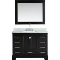 "Design Element DEC068C-E Omega 48"" Freestanding Single Sink Bathroom Vanity Set in Espresso"