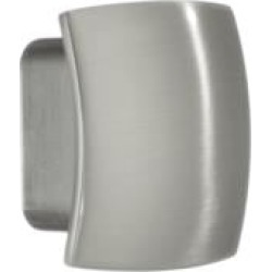 "Smedbo BN467 1 1/8"" Zinc Square Cabinet Knob in Brushed Nickel"