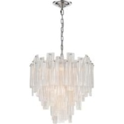 """ELK Home D4297 Diplomat Staggered 10 Light 21 1/2"""" Incandescent Clear Glass Eight Tier Chandelier in Chrome - Small"""