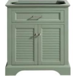 "Avanity COLTON-V30-BG Colton 30"" Freestanding Single Bathroom Vanity in Basil Green"