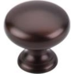 "Top Knobs M753 Normandy 1 1/4"" Brass Mushroom Shaped Cabinet Knob in Oil Rubbed Bronze"