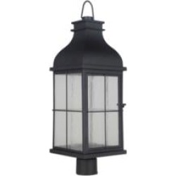 "Craftmade ZA1825-LED Vincent 1 Light 9"" LED Clear Seeded Glass Shade Outdoor Post Light"