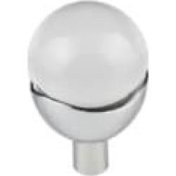 "Top Knobs TK731 Barrington 1 1/4"" Brass Round Shaped Nina Clear Glass Cabinet Knob"
