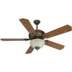"Craftmade K10238 Mia 5 Blades 52"" Indoor Ceiling Fan with Fluorescent Light Kit in Dark Coffee and Dark Oak"