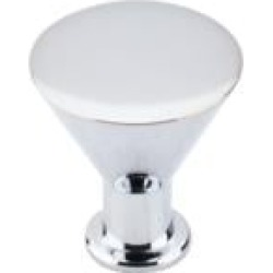 """Top Knobs M586 Nouveau II 1 1/4"""" Brass Cone Shaped Cocktail Cabinet Knob in Polished Chrome"""