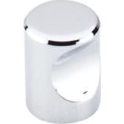 """Top Knobs M580 Nouveau II 3/4"""" Zinc Cylindrical Shaped Indent Cabinet Knob in Polished Chrome"""
