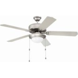 """Craftmade K11128 Pro Builder 209 5 Blades 52"""" Indoor Ceiling Fan with Fluorescent Light Kit in Brushed Nickel"""