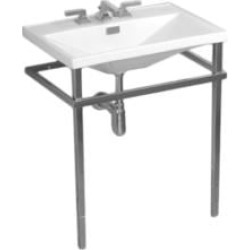 "TOTO F930MCP Lloyd 32 5/8"" Metal Console Stand for Lavatory in Polished Chrome"