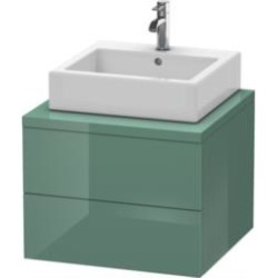 """Duravit DL6847 Delos 23 5/8"""" Wall Mount Double Bathroom Low Cabinet for Console with Two Drawer"""