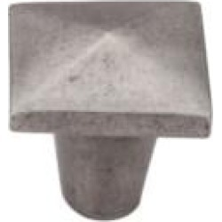 "Top Knobs M1515 Aspen 1 1/4"" Cast Bronze Square Shaped Cabinet Knob in Silicon Bronze Light"