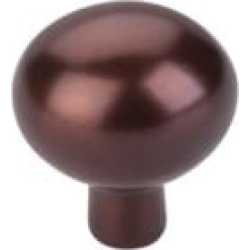 "Top Knobs M1533 Aspen 1 1/2"" Cast Bronze Oval Shaped Cabinet Knob in Mahogany Bronze"