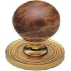 """Phylrich K91 Regent/Versailles 1 3/8"""" Brown Onyx Round Shaped Cabinet Knob"""