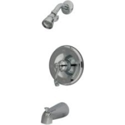 Kingston Brass KB1631FL Single Lever Handle Pressure Balanced Tub and Shower Faucet with Trim in Polished Chrome found on Bargain Bro Philippines from Decor Planet for $129.97