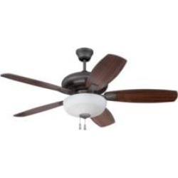 """Craftmade FZA52ESP5C1 Forza 5 Blades 52"""" Indoor Ceiling Fan with Light Kit in Espresso"""