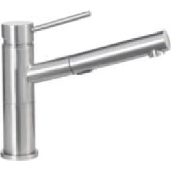 Blanco 441486 Alta Compact 2.2 GPM Single Handle Kitchen Faucet with Pullout Dual Spray in Satin Nickel found on Bargain Bro India from Decor Planet for $328.25