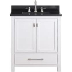 "Avanity MODERO-VS30-WT Modero 30"" Free Standing Single Bathroom Vanity Set in White Finish"