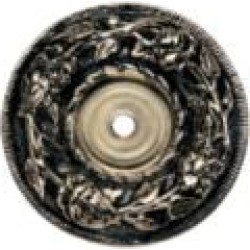 """Phylrich 1029318P Baroque 2"""" One Hole Round Cabinet Knob Backplate"""