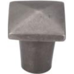 "Top Knobs M1505 Aspen 3/4"" Cast Bronze Square Shaped Cabinet Knob in Silicon Bronze Light"