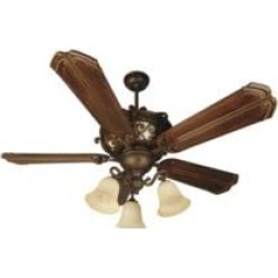 """Craftmade K10767 Toscana 5 Blades 56"""" Indoor Ceiling Fan with CFL Light Kit in Walnut"""