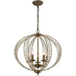 """Elk Lighting 15965-5 Elizabethan 5 Light 21"""" Incandescent Chandelier Light in Dark Bronze"""
