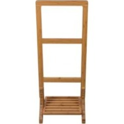 "Barclay TRK500 15 3/4"" Bamboo Freestanding Towel Rack"