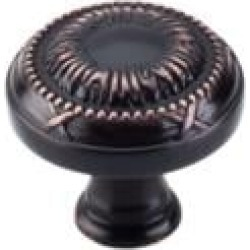 "Top Knobs M1644 Edwardian 1 1/8"" Zinc Alloy Mushroom Shaped Ribbon Cabinet Knob in Tuscan Bronze"