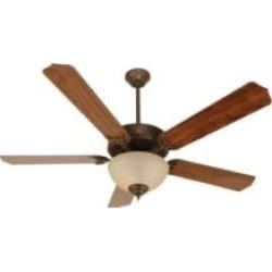 "Craftmade K10647 Pro Builder 208 5 Blades 52"" Indoor Ceiling Fan with Fluorescent Light Kit in Walnut"