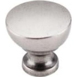 "Top Knobs M1202 Nouveau III 1 1/4"" Zinc Alloy Mushroom Shaped Bergen Cabinet Knob in Pewter Antique"