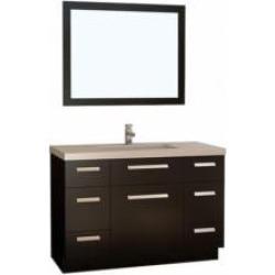 "Design Element J48-DS Moscony 48"" Freestanding Single Sink Bathroom Vanity Set in Espresso"