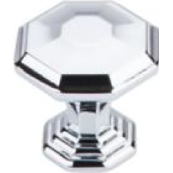 "Top Knobs TK340 Chareau 1 1/8"" Zinc Alloy Geometric Shaped Chalet Cabinet Knob"