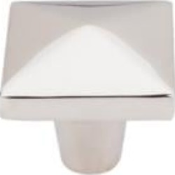 "Top Knobs M2064 Aspen II 1 1/2"" Cast Bronze Square Shaped Square Cabinet Knob in Polished Nickel"