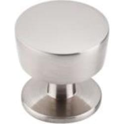 "Top Knobs M1122 Nouveau III 1 1/4"" Zinc Alloy Mushroom Shaped Essex Cabinet Knob in Brushed Satin Nickel"