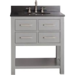 "Avanity BROOKS-VS30-CG Brooks 30"" Free Standing Single Bathroom Vanity Set in Chilled Gray Finish"