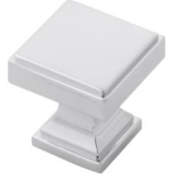 "Belwith Keeler B077458 Brownstone 1 1/8"" Zinc Square Shaped Cabinet Knob"