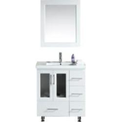"Design Element B30-DS-W Stanton 32"" Freestanding Single Sink Bathroom Vanity Set in White"