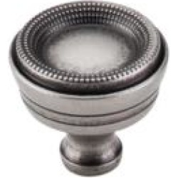 """Top Knobs M947 Edwardian 1 3/8"""" Zinc Alloy Mushroom Shaped Bead Cabinet Knob in Pewter Antique"""